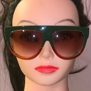 Accessories - Green and red sunglasses